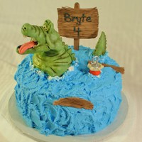 Modeling Chocolate Crocodile For A Little Boy Who Loves Peter Pan And Tic Tock Crock Modeling chocolate crocodile for a little boy who loves Peter Pan and Tic Tock Crock