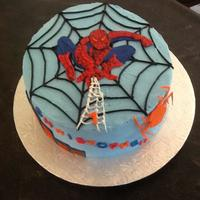 Spiderman Buttercream With Fondant Accents Spiderman, buttercream with fondant accents.
