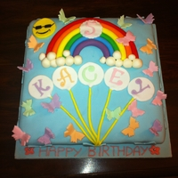 Rainbow And Butterfly Cake Theme of my nieces birthday party was butterflies.