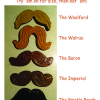 Munchstaches Movember is coming, and I wanted to try out this set of cutters by Fred. It's a combination stamper & cutter and names the 5...