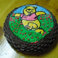 Pooh Bear made a basket weave around the sides