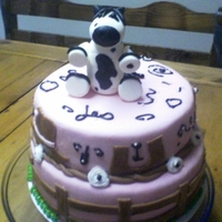 Jessi's Horse Cake sour cream cake w/ mmf and horse made out of mmf