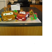 Lighting And Mater Cake for our sons 13th B-day