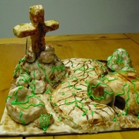 It Is Finished Made this cake for Easter. Made with cake, rice crips,and fondant