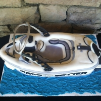 Father's Day Wakesetter I made this cake for my dad on Father's Day. It is a replica of his Malibu Wakesetter. Vanilla Cake with Vanilla Buttercream and...
