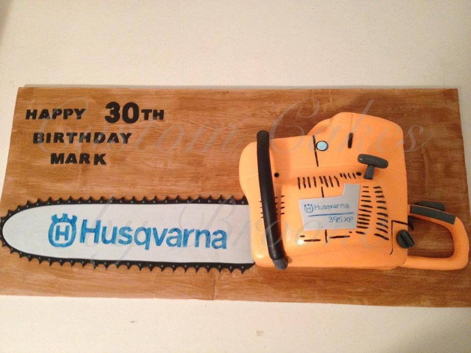This Husqvarna Chainsaw Cake Was 75Cms Long All Handmade Decorations And Hand Painted This Husqvarna chainsaw cake was 75cms long. :)All handmade decorations and hand painted