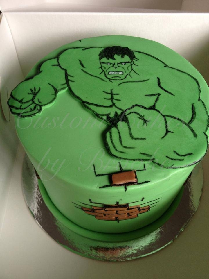 Who Doesnt Love The Hulk Vanilla Mud Cake The Hulk And Bricks Were Hand Cut And Hand Painted *Who doesn't love The Hulk!? Vanilla mud cake. The hulk and bricks were hand cut and hand painted