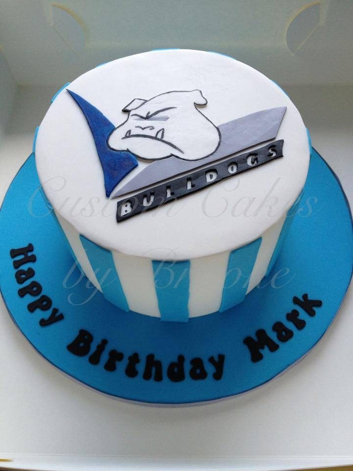 Canterbury Bulldogs Cake Rainbow Cake Inside Emblem Was Hand Cut And Painted 100 Edible *Canterbury bulldogs cake.Rainbow cake inside, emblem was hand cut and painted. 100% edible