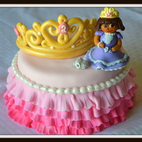 Princess Birthday Party Made for my niece who turned 2 and she LOVES Dora so I thought I would make her one. Used Marshmallow fondant to cover cake and both the...