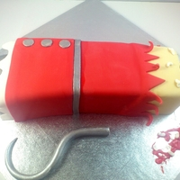 Captain Hook Severed Arm Cake