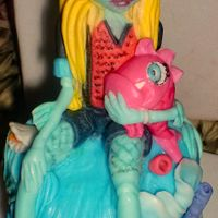 Monster High Lagoonafondant   monster high lagoona.fondant