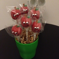 Apple Cake Pop BACK TO SCHOOL GIFT FOR TEACHER APPLE CAKEPOPS