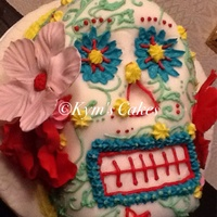 Sculpted Skull Cake Red velvet, of course.
