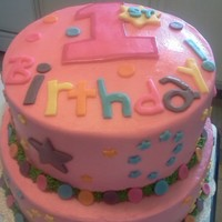 1St Birthday Cake Butter Cream w/ MMF-made to match theme