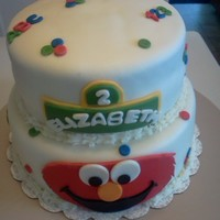 "Elmo Birthday Cake Covered w/ MMF and MMF accents- 8"" & 10"" cakes"