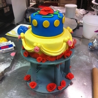 Beauty And The Beast Theme Cake Beauty and the Beast Cake with Pastillage Base