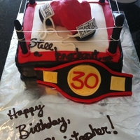 Boxing Ring/glove Cake Boxing Ring Cake for 30th Birthday