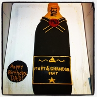 Champagne Bottle Cake My First Cake...Moet Champagne Bottle Cake