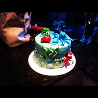 Under The Sea Baby Shower Cake Under the Sea Theme Baby Shower Cake