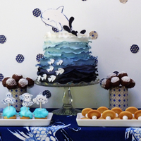 An Underwater Dessert Table You Can See Close Ups On My Blog Httpamelieshouseblogspotcouk201211Underwater Partyhtml An underwater dessert table. you can see close ups on my blog http://amelieshouse.blogspot.co.uk/2012/11/underwater-party.html