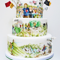 Glastonbury Cake A Wedding Cake For A Lovely Couple Who Work In The Music Industry The Glastonbury Festival Is A Music Festival In The Uk Glastonbury cake. A wedding cake for a lovely couple who work in the music industry. The Glastonbury festival is a music festival in the UK...