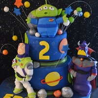 Buzz Light Year Themed Cake