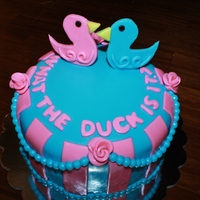 What The Duck Is It? What the duck is it? Gender reveal cake!