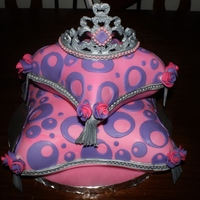 Princess Pillow Cake My first time using the pillow pans and making a tiara