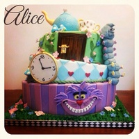 Celebration Cakes Alice in wonderland theme birthday cake