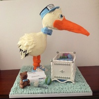 Special Delivery Stork Baby Shower Cake Special delivery stork baby shower cake