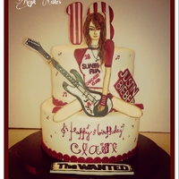 18Th Bday Cake For A Girl Who Doesnt Like Pink Loves Music And Plays Camogie 18th bday cake for a girl who doesn't like pink:-) ... loves music and plays camogie