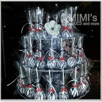 Zebra Print Cake Pops - Wedding Cake Pops with Zebra Print and Red Bow for Wedding