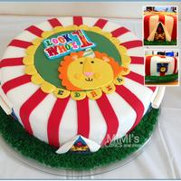 Fisher Price #1 Birthday Cake Fisher Price #1 Birthday Cake (Circus/Carnival with Animals)