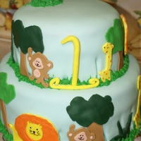 Jungle Birthday Party My son had a jungle theme for his first birthday. I had some trouble with smoothing the fondant, but I don't think the kids cared! It...