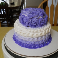Ombre And Rose Cake