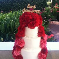 Carnation Cascade Wedding Cake This is my first wedding cake for good friends. They had a Dia de Los Muertos garden wedding. It was beautiful with vivid colors and soooo...