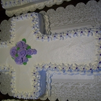 Cross Cake I make this cake for church events and funeral dinners