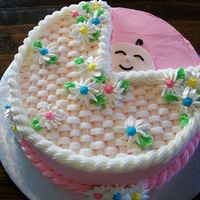 Baby Girl Shower Cake Baby Buggy, change pink for blue for boy shower