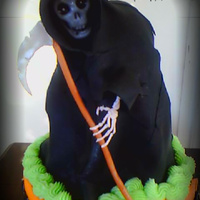 Reaper Fondant Cake Topper Piped Hand Reaper- Fondant Cake Topper (piped hand)
