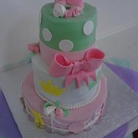 My First Tiered Cake I Know Its Not Perfect But I Am Very Proud Of Myself My first tiered cake. I know it's not Perfect but I am very proud of myself!!!