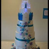 A Frozen Themed Cake For My Daughter Annika A Frozen themed cake for my daughter Annika.