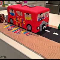 What To Do When Your Nephew Wants A Bus Cake Combined With The Wigglesa Wiggle Bus Cake What to do when your nephew wants a bus cake combined with the Wiggles....A Wiggle bus cake!