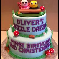 Two Tiered Didi And B Cake Two tiered Didi and B cake.