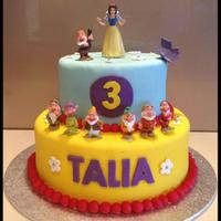Snow White Two Tiered Cake   Snow White two tiered cake.
