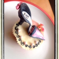 My First Shoe On A Cupcake