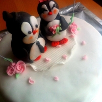 Penguin Cake For Our Anniversary:)