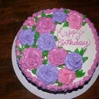 Chocolate Cake With Peanut Butter Icing Roses Cake