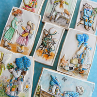 Holly Hobbie Cookies Holly Hobbie cookies.