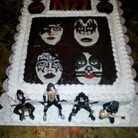 Kiss Dynasty Cake The decorations on this cake are all hand drawn in chocolate to duplicate the Kiss Dynasty Album cover. The cake is vanilla with vanilla...
