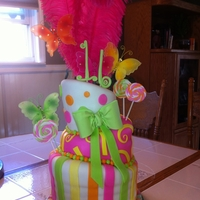 Sweet 16 Not too bad for my first topsy turvy cake.